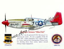 Tuskegee Airmen Lt Lucky Lester's P-51 Mustang Miss Pelt by Willie Jones Jr.