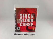 SIREN BLOOD CURSE * HORROR * SONY PLAYSTATION 3 PS3 * PAL ITA ITALIANO COMPLETO