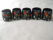 5 Vintage POODLE Ceramic Shot Glasses Made in Japan / Dog / Bar / Man Cave