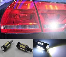 2x White Error Free LED Reverse Back up Light Bulb For vw Passat B7 10-15