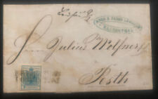 1888 Elisenthal Austria Empire Vintage Lettercover To Pest Hungary