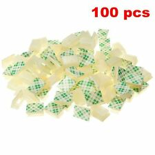 100Pcs Plastic Wire Tie Rectangle Cable Mount Clip Clamp Self-adhesive White