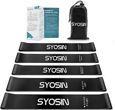 SYOSIN Resistance Bands 5pcs Exercise Fitness Loop Bands