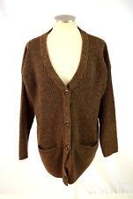 Vtg LINDA ALLARD ELLEN TRACY Soft Wool Knit Oversized Cardigan Sweater Coat M  L