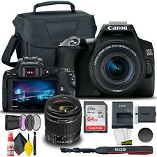 Canon EOS 250D / Rebel SL3 DSLR Camera with 18-55mm Lens (Black) + Creative