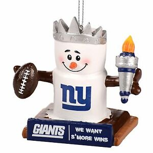 New York Giants Smores Christmas Tree Ornament - We Want Smore Wins - Thematic