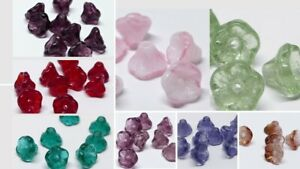 7MM CZECH PRESSED GLASS SMALL FLOWER BELL TRUMPET SPACER BEADS - 30PCS
