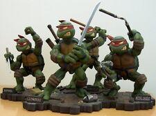 TMNT Teenage Ninja Turtles Playmates Statue MICHAELANGELO & LEONARDO Nt Sideshow