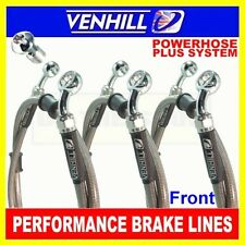 HONDA CX500C CUSTOM 1979-82 VENHILL s/steel braided brake lines front CL