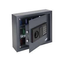 HMF Schlüsseltresor 30 Haken, Schlüsselschrank Tresor, Schlüsselkasten, Safe
