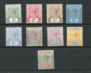 British Honduras 1891-1901 values to 50c MLH/MM cat £111