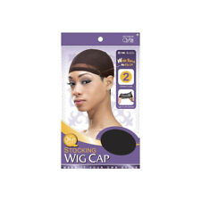 Qfitt Stocking Wig Caps Light Ultra Stretch Wide Band No Slip Off #100 Black