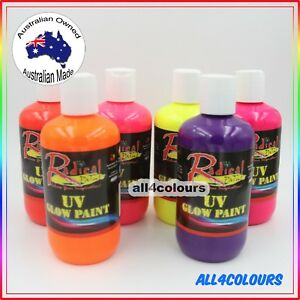 OZ Made 250ml Radical Paint Non-Toxic UV Glow Paint Under UV Light for Party