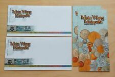 2010 Malaysia Money Currency Banknotes Coins Blank FDC (Lot of 2 covers)