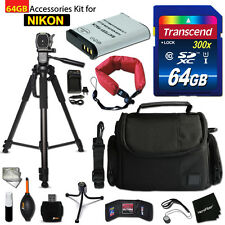 64GB ACCESSORIES Kit for NIKON CoolPix P900 w/ 64GB Memory + Battery +Case +MOR
