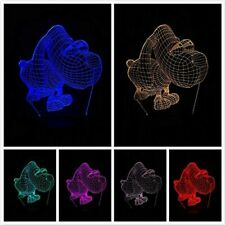 Doggy Night Light 3D LED Illusion Lamps Touch Switch 7 Color Changing