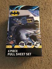 Batman Full Size Bed Sheet Set 4 Piece Bedding