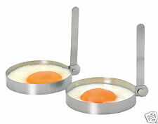 Kitchen Craft Set of 2 Stainless Steel Round Fried Egg Cooking Rings KCEGGRINGS