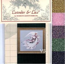 Lavender & Lace Cross Stitch Chart with Mill Hill Bead Set ~ ANGEL OF SPRING #23