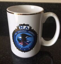 Vintage FBI National Academy Coffee Mug NA Gold Rim Law Enforcement