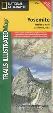 National Geographic Trails Illustrated Map Yosemite National Park California USA