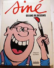 SINE/60 ANS DE DESSINS/PREFACE DE BEDOS/ED HOEBEKE/2009/CHARLIE/HARA-KIRI/CHATS