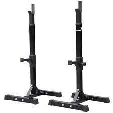 2PCS Adjustable Standard Solid Squat Stands Rack Press Bench Re-Packaged