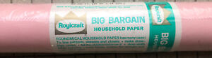 NOS Vintage Roylcraft Houeshold Paper ROLL 63 SQ. FT PINK Movie Prop Advertising