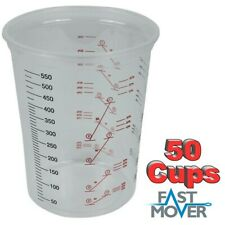 Fast Mover Plastic Paint Mixing Cups 600cc - Pack of 50 Mixing Pots