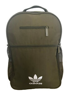 Summer Mens Womens ADIDAS TREFOIL BACKPACK Bag Sports Casual Olive Green White