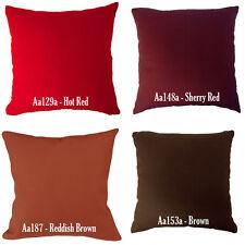 Aa Red Burgundy Reddish Brown Cotton Canvas Pillow Case/Cushion Cover*Custom Siz