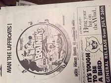 m12n ephemera 1970 film picture advert boatniks man the laffboats silvers morse