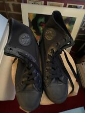 Convers Allstar Black Canvas And Genuine Leather Mens Size 10