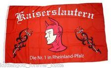 "KAISERSLAUTERN Flagge Fahne ""NUMMER 1"" Fan Block Ultra + 100% Polyester NEU"
