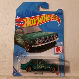 Hot wheels 2021 SUPER TREASURE HUNT J imports 71 Datsun 510 Long card