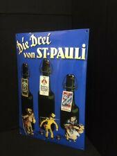 DIE DREI VON ST PAULI BIER Emailleschild 60 x 40 cm D 1990er Jahre