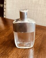 Vintage Silver Plate Glass Liquor Flask Pull Off Sleeve