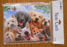8 Leanin Tree Note Cards Lots of DOGS SMILING SELFIES Lab, Yorkie, Chihuahua etc
