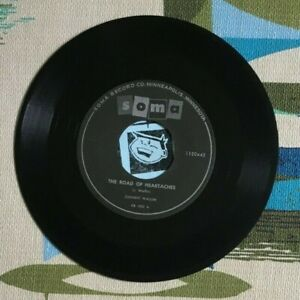 Johnny Wallin 45 The Road of Heartaches / Mandy 1959 Soma Minnesota R&R VG-