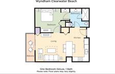 WYNDHAM CLEARWATER BEACH (1) BEDROOM DELUXE CONDO; 12/14 - 3 NIGHTS