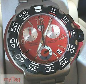 TAG Heuer Mens F1 Chronograph Quartz Watch.CA1112-0