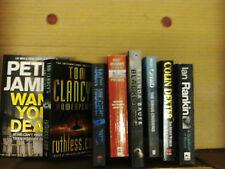 8 different crime thriller books