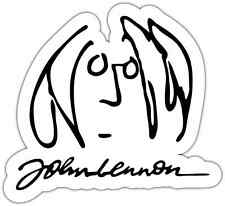 "John Lennon The Beatles Music Car Bumper Window Sticker Decal 5""X4"""