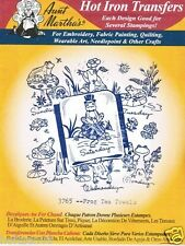 Flowers for Paint Towels 3698 Aunt Martha's Hot Iron Embroidery Transfer Pattern