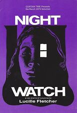 "Len Cariou ""NIGHT WATCH"" Joan Hackett / Keene Curtis 1972 Book Club Flyer"