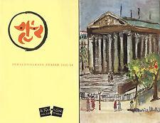 Sir John Vanbrugh Plays at Schauspielhaus Zürich & Comédie Caumartin Paris/1953