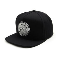 Unisex Mens Premier Illuminati Eye Baseball Cap Snapback Hiphop Hats BLACK/WHITE