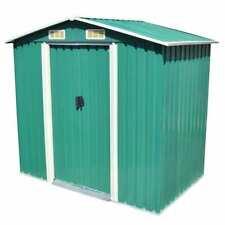 "Garden Storage Shed Green Metal 80.3""x52""x73.2& #034;"
