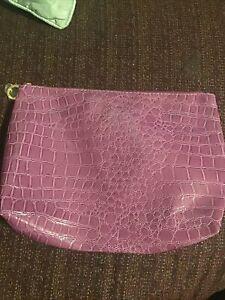 Estee Lauder Purple Snake Patent Leather Makeup Bag