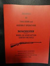 Winchester model 88  manual approved by Winchester 35 yrs ago seconds